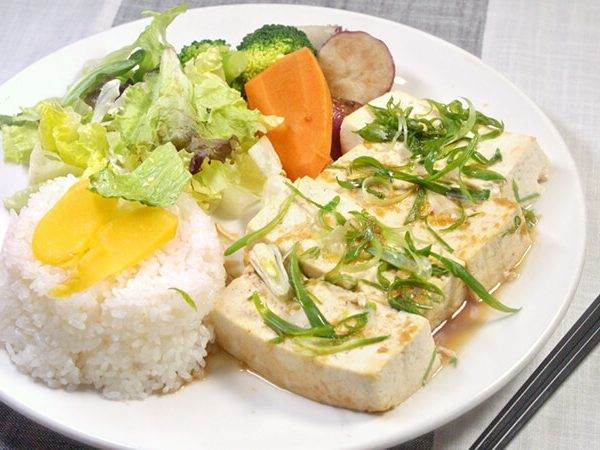 Tofu Steak Platter